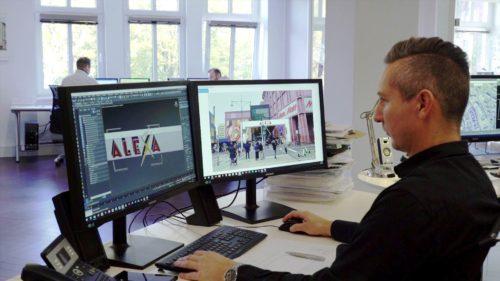 CAD-Planung-Visualisierung-Torbogen-Einkaufsmeile-Alexa_pos-werbeproduktion-berlin