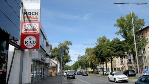 Außenwerbeanlage Nochmall Straßenfront | POS Werbeproduktion BERLIN