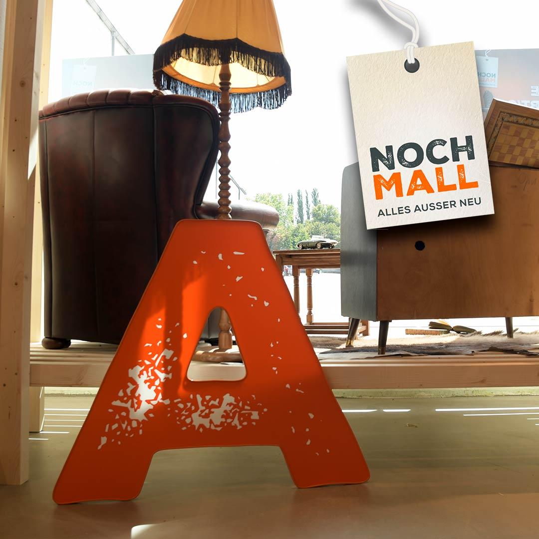 Leuchtwerbung für Nochmall Berlin | POS Werbeproduktion BERLIN